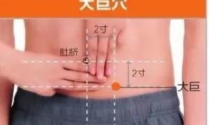 腹部穴位大巨